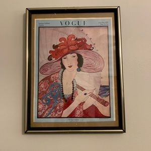Vintage Vogue Magazine Cover Poster June 1919